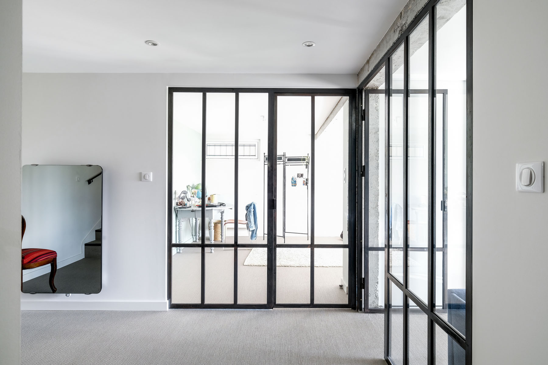 CHAMBRE apre renovation Verriere style industriel et Bolon -DSCF5839-1