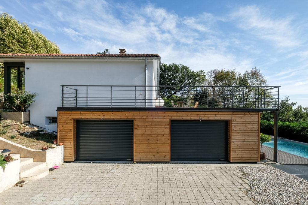 Extérieur garage Après rénovation