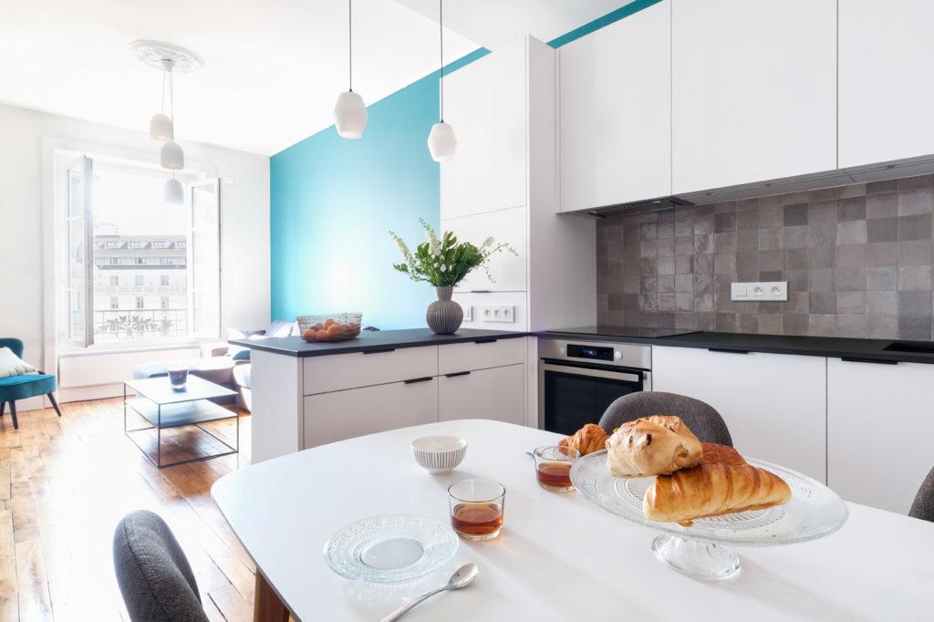Brotteaux - Après -cuisine crédence zelliges Marazzi Argila
