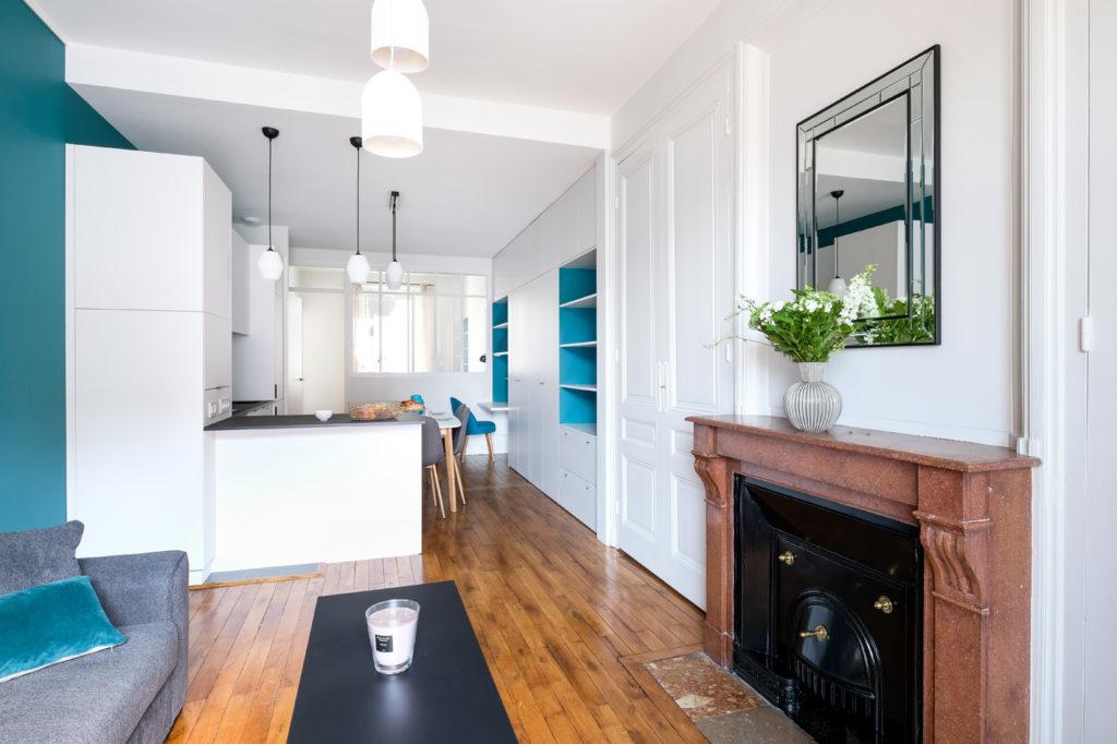 Brotteaux - Après -cuisine ouverte sur salon